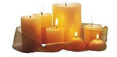romantic anniversary candles
